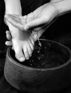 washing feet (12-13-12)