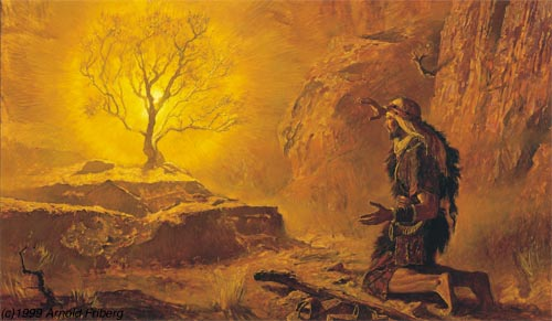 Moses And The Burning Bush Array