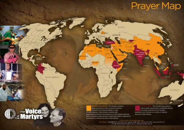 Persecuted Christian Map (10-3-13)