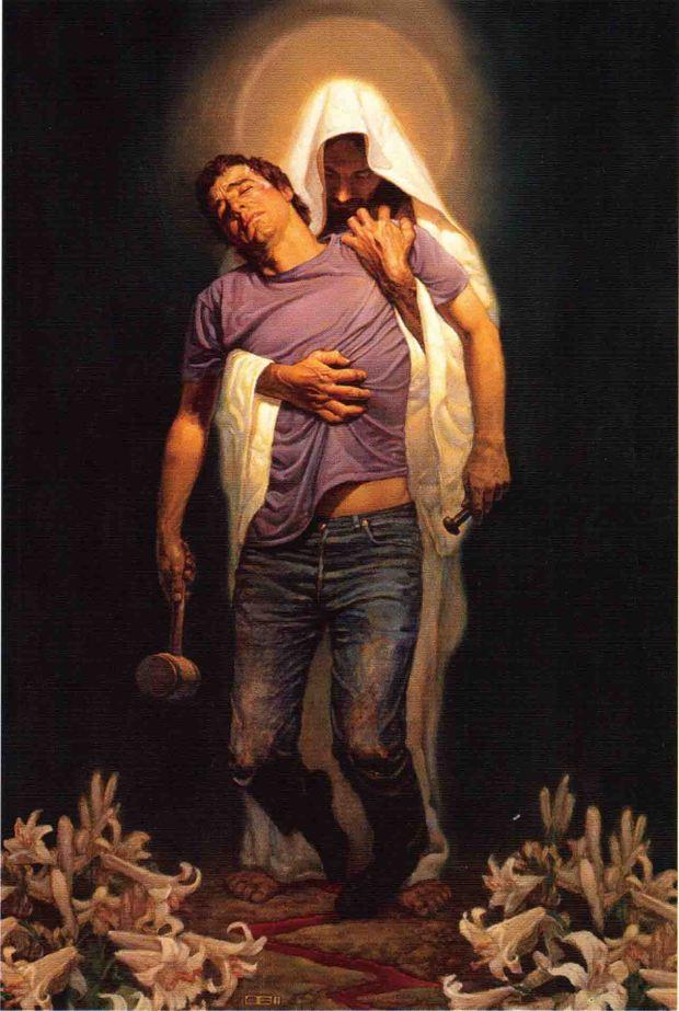Jesus holding sinner (8-24-15)